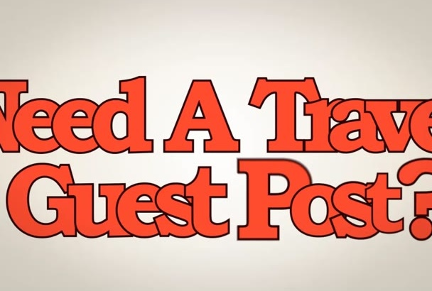 give you a guest post on PR 6 Travel blog