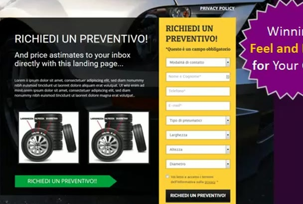 design High Conversion Landing Page, Sales Page, Squeeze Page, Funnel Sales WP