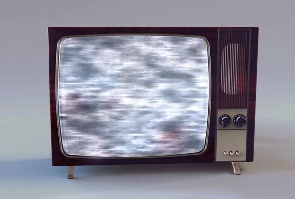 do an Old Tv Logo Intro with Sfx