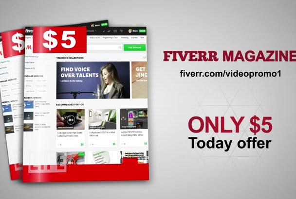 make a magazine promo video