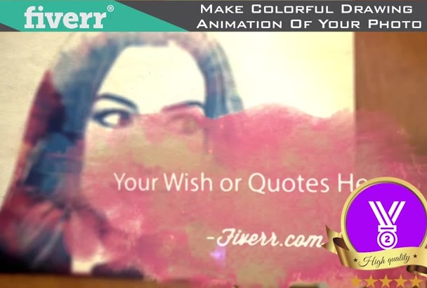 make Colorful Drawing Animation of Your Photo
