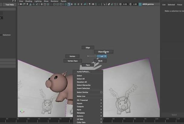 modelar un personaje 3D animado a partir de tu boceto