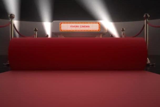create a red carpet cinema animation