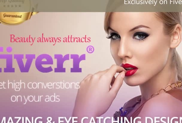 design beautiful and professional web banners and ads