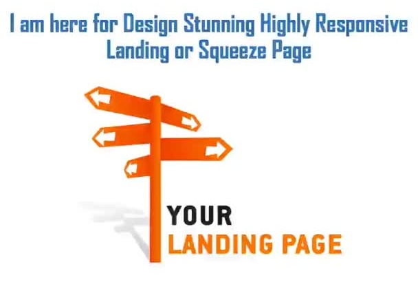 design high converting landing page or squeeze page