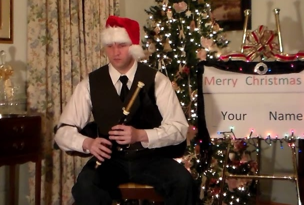 wish you a Merry Christmas on the Uilleann Pipes