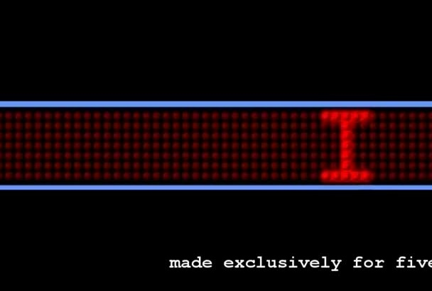 create a animated scrolling LED text with custom effects for your website