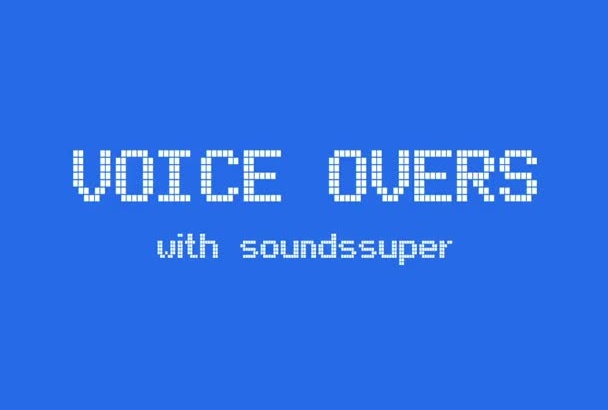 record a professional voiceover that sounds super for 1 minute