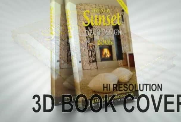 create Hi Resolution 3D Book Cover from your 2D flat design