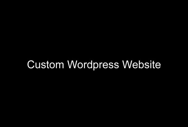 create custom WordPress website