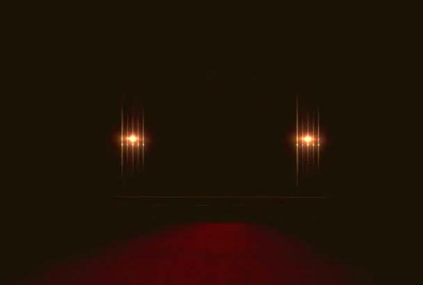do LIGHT up logo on stage