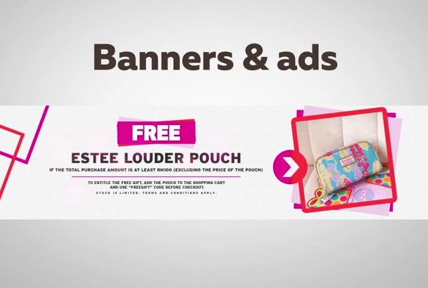 design quality banners, headers or ads