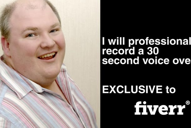 professionally record a 30 second voice over