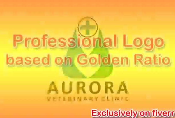 design, redesign your logo professionally, based on Golden Ratio