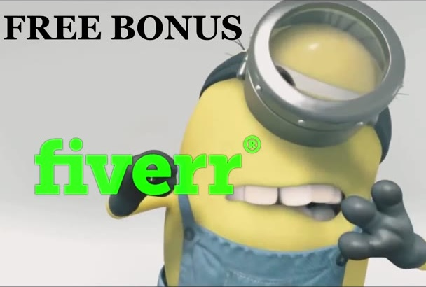 minion cleaning your logo and advert it in 6 hour