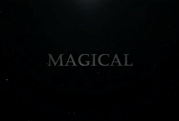 create a Magical Style Video Intro with your text