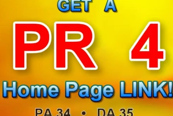 give you a Powerful Homepage PR4 DOFOLLOW link for your site
