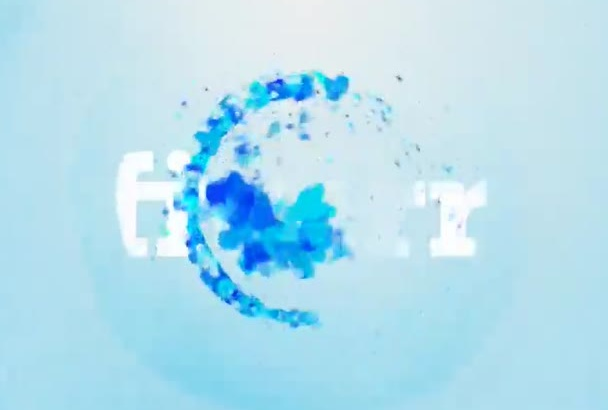 make an awesome liquid paint intro, with your tagline