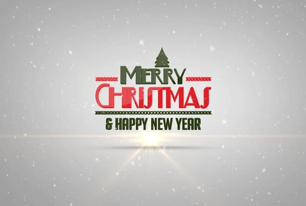create amazing Christmas and Happy New Year Wish Logo Intro Video