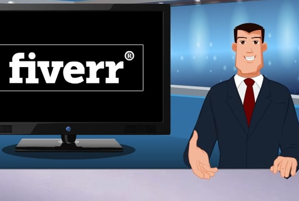 present Your Breaking NEWS Video Cartoon Style