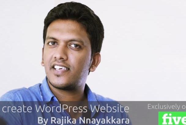 create WordPress Website for you