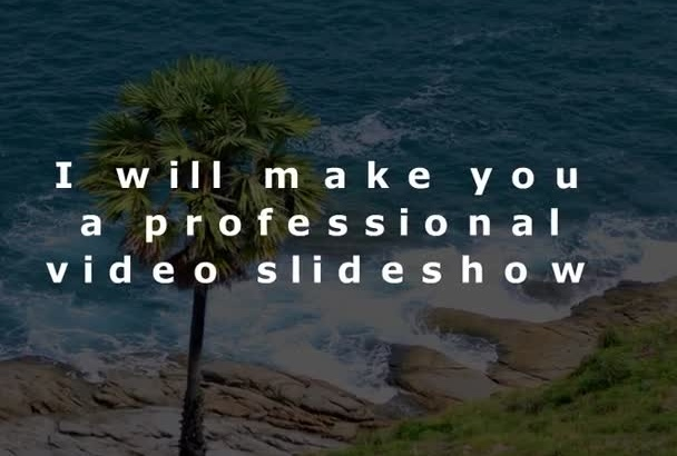 create a video slideshow from your photos and videos