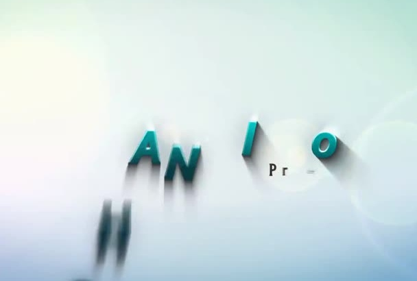 create this DANCING Text colorful intro with your Text and Logo