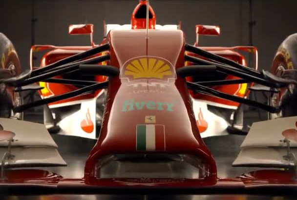 add your Logo to a Ferrari F1 Car Video
