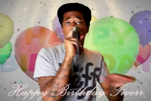 write your lyrics and record a custom birthday Rap