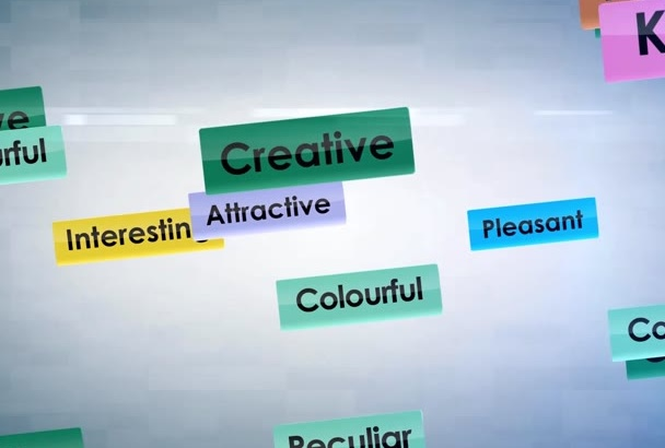 make Colorful Words To Logo Reveal HD