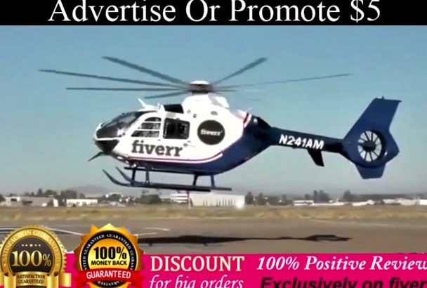 advertise business banners and logo on a helicopter