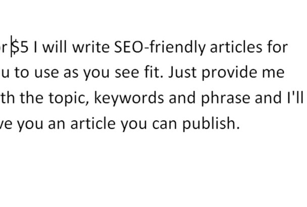write an SEO article of 600 words