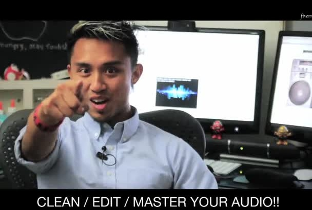 clean, restore, and master your audio file that will sound super and ready for broadcast