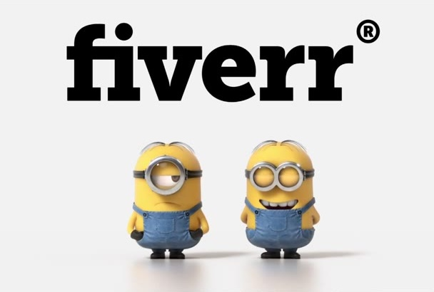 put your text and logo in this minion farting HD video