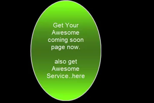 design a Responsive Coming Soon page