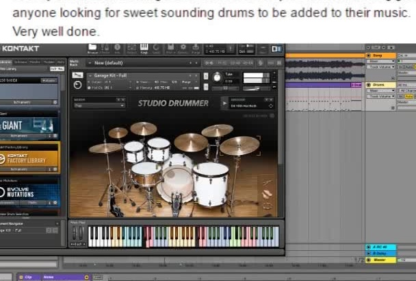 compose a drum beats for your music