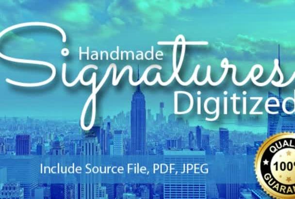 make your handmade signature digitalized