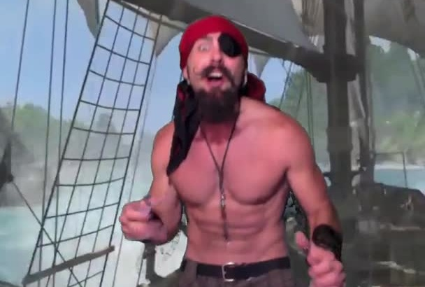 say anything you want as a Sexy Shirtless Pirate