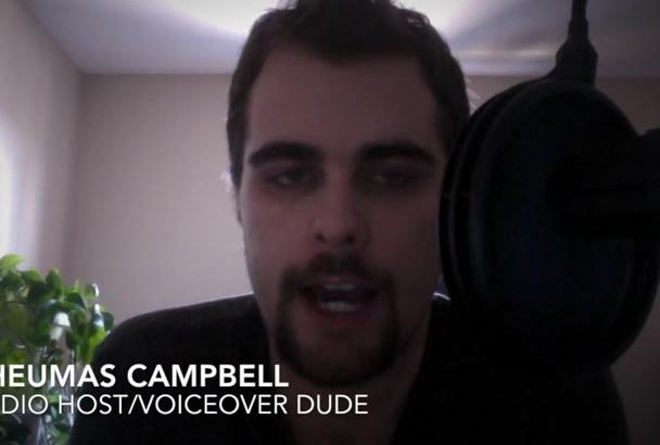 do a professional voice over ASAP