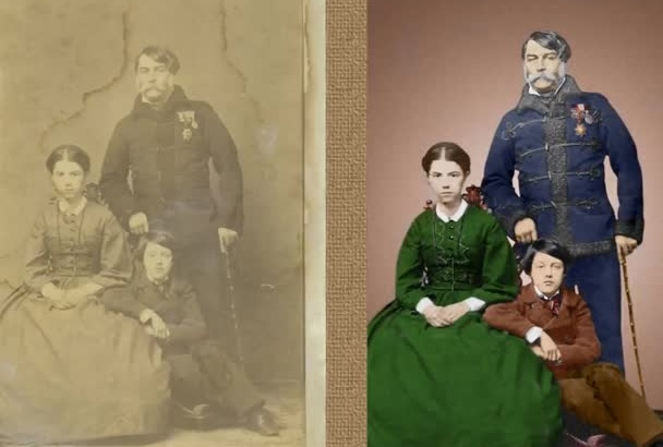 restore, repair, fix damaged photo, image restore color
