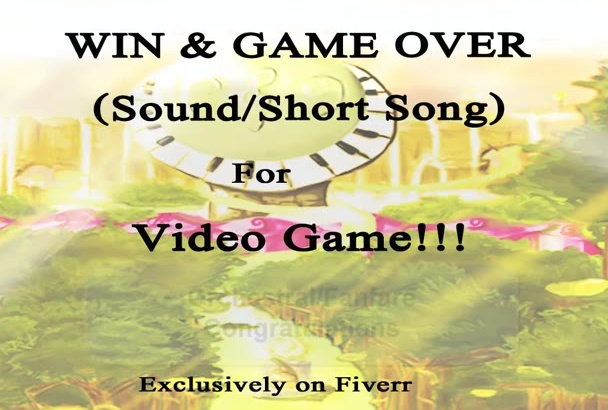 make short sounds for game and logo