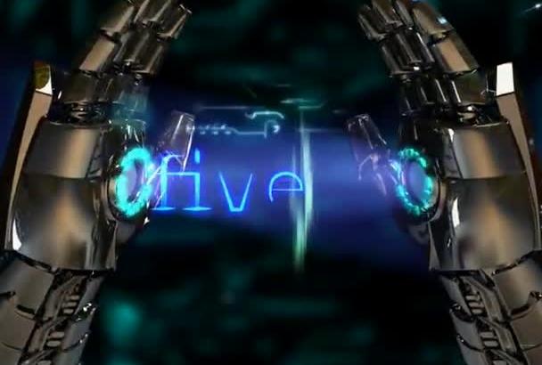 do robot sci fi intro for logo