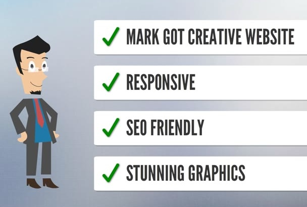 design creative and responsive website