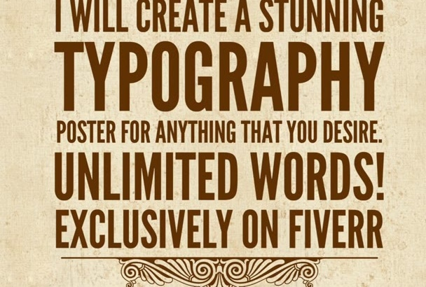 create an awesome Typography poster or image with unlimited words