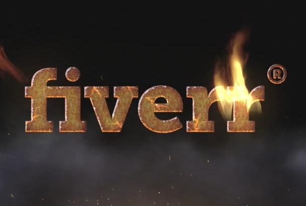 un intro con tu logo en llamas