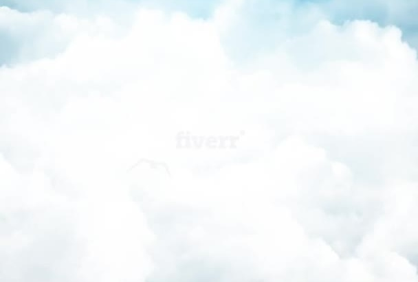 create a cloudy intro with your LOGO