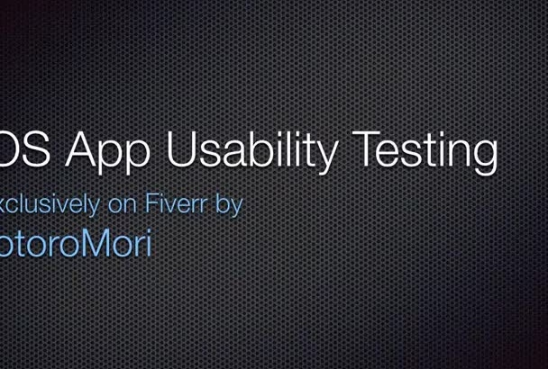 test your iOS app for usability