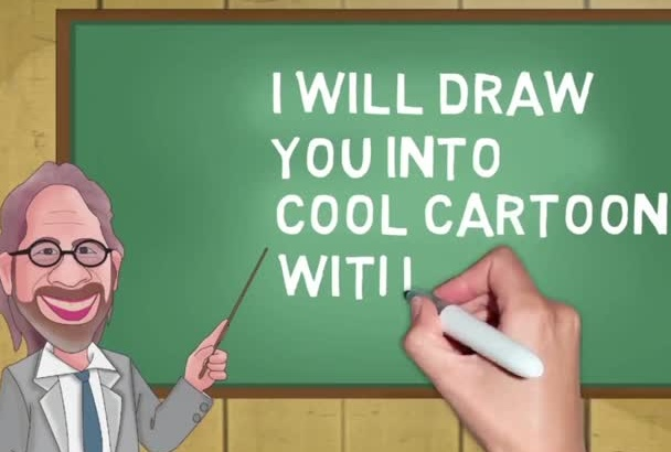 draw you into cool cartoon in 1 hour
