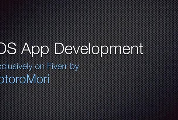 design and develop an iOS app