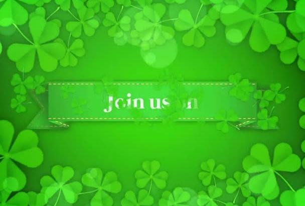 create St Patricks Day Video